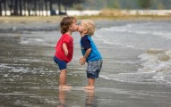 boy kisses girl cute baby names