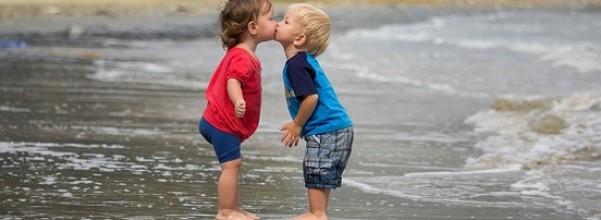 boy kisses girl cute baby names