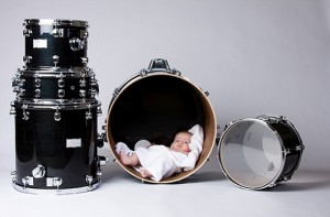 Baby in drum baby names inspired by music