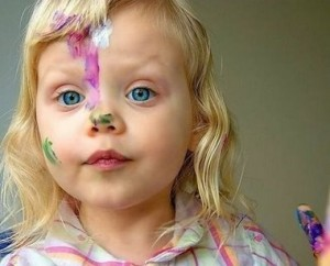 girl with paint on her face artistic baby names