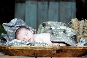 military baby boy