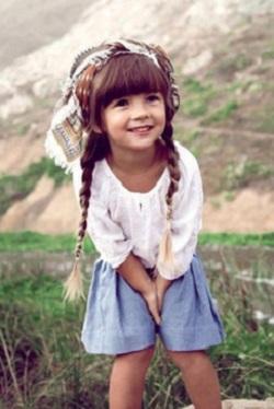 Hipster girl smiling