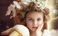 young girl wreath