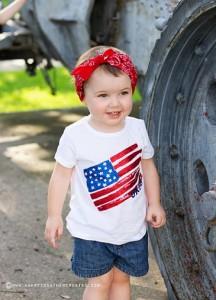 Little girl american patriotic