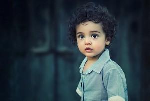 baby boy dark hair
