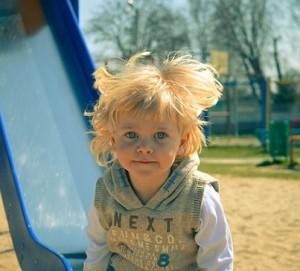 Cute boy playground