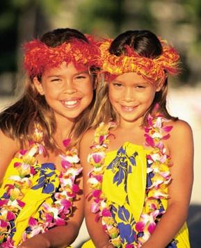 Hawaiian baby smiles