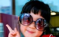 Stylish baby girl smile