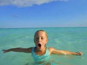 Girl swim Brave