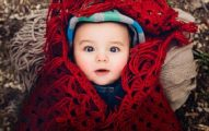 Baby winter girl January